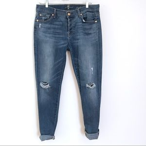 7 for all mankind Josephina skinny BF jeans 28